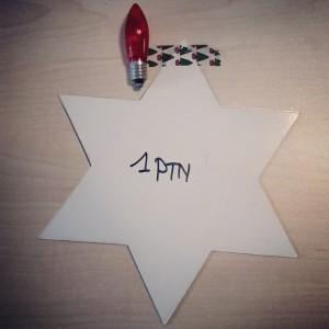 bur o bar kerstballenruil: lampje kerstmis ter waarde van 1 punt