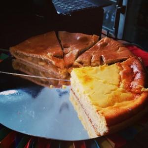 bur o bar taart - kaastaart en appeltaart - tijdens de kerstballenruil