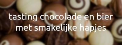 Tasting chocolade en bier – 17 april